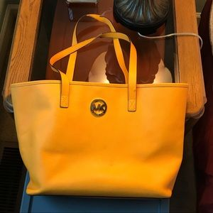 Yellow Michael Kors Jet Set Bag